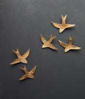 Golden Swallows Moroccon Wall Art